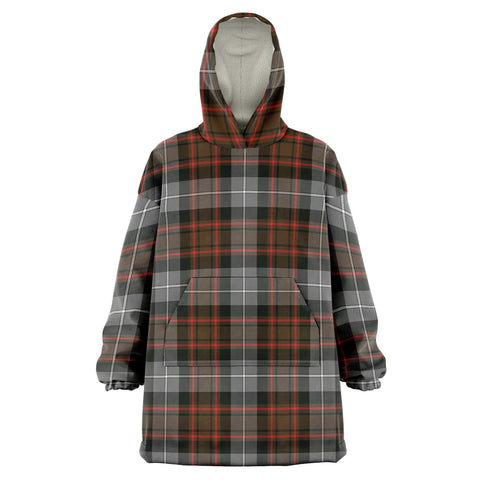 MacRae Hunting Weathered Snug Hoodie - Unisex Tartan Plaid Front