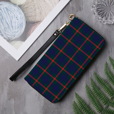 Image of AGNEW MODERN TARTAN ZIPPER WALLET HJ4