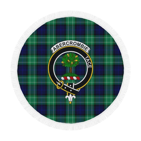 Image of Abercrombe Clan Badge Tartan Circular Shawl C11 Shawls