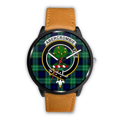 Abercrombie Clan Badge Tartan Leather/steel Watch P1 Mens 40Mm / Brown Leather-Steel Watches