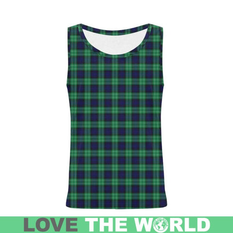 Abercrombie Tartan All Over Print Tank Top Nl25 Xs / Men Tops