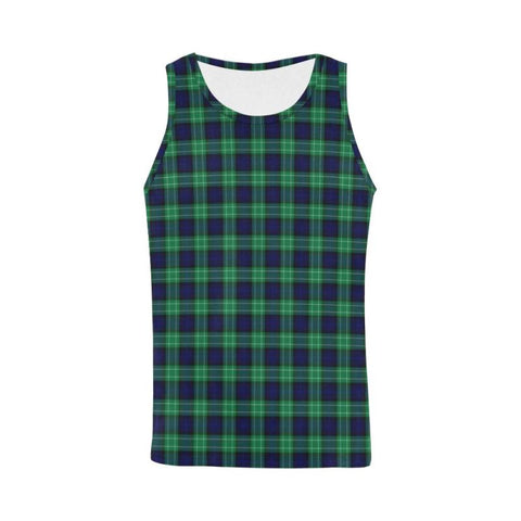 Image of Abercrombie Tartan All Over Print Tank Top