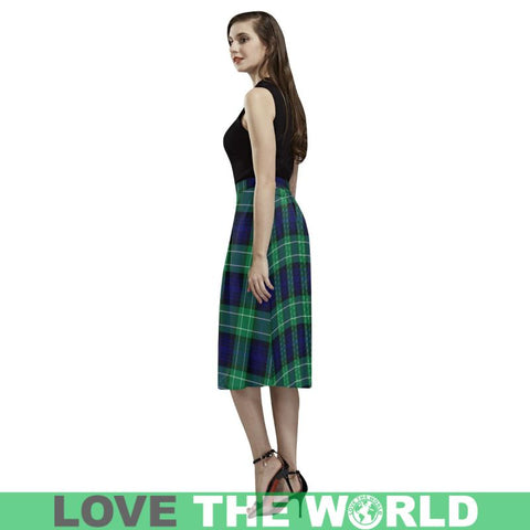 Image of Abercrombie Tartan Aoede Crepe Skirt S12 Skirts