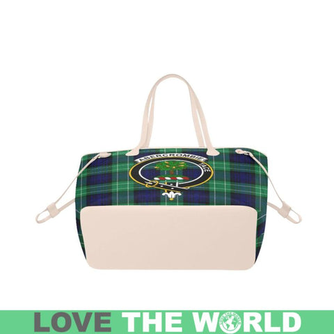 Abercrombie Tartan Clan Badge Clover Canvas Tote Bag C33 Bags
