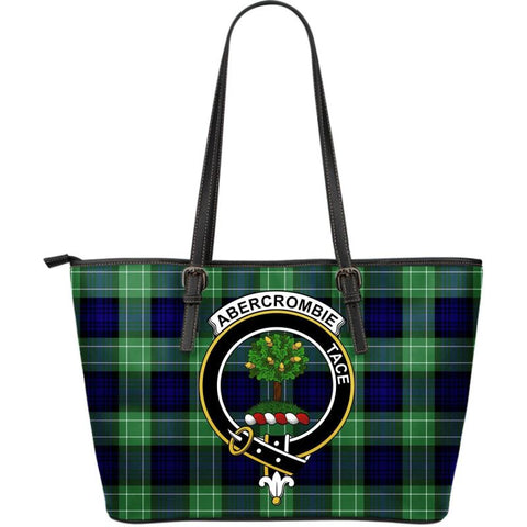 Abercrombie Tartan Clan Badge Large Leather Tote Bag W7 Totes