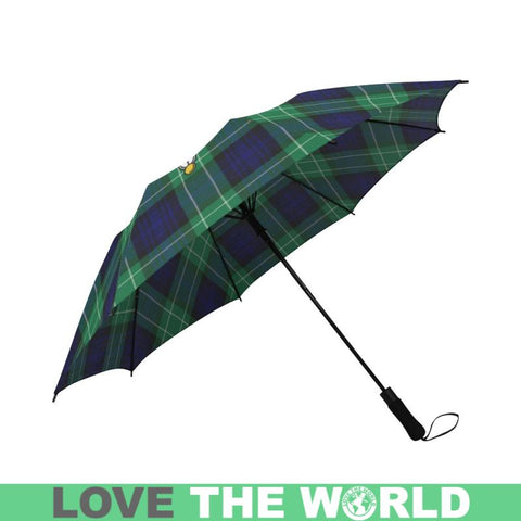 Abercrombie Tartan Clan Badge Semi-Automatic Foldable Umbrella R1 Semi Umbrellas