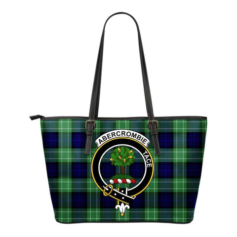Abercrombie Tartan Clan Badge Small Leather Tote Bag C20 Totes