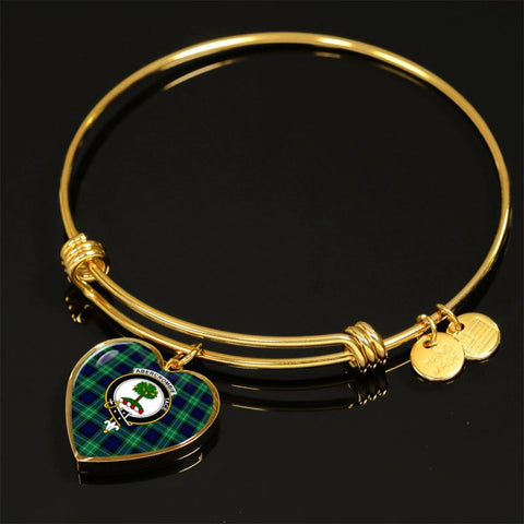 Image of Abercrombie Tartan Golden Bangle - Tm Jewelries