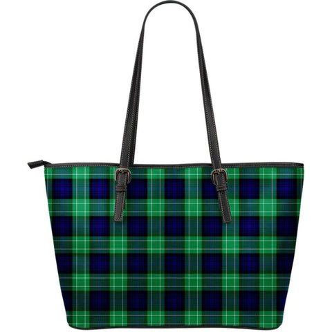 Image of Abercrombie Tartan Large Leather Tote Bag Nl25 Totes