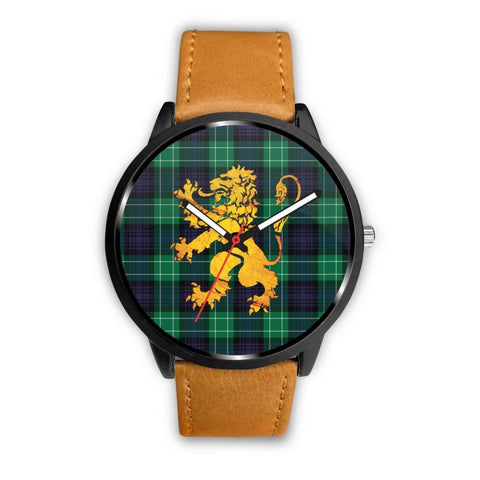 Abercrombie Tartan Lion Leather/steel Watch P1 Mens 40Mm / Brown Leather-Steel Watches