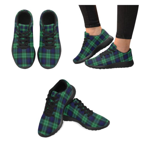 Image of Abercrombie Tartan Sneakers HJ4 Black Blue