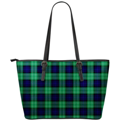 Abercrombie Tartan Small Leather Tote Bag Nl25 Totes