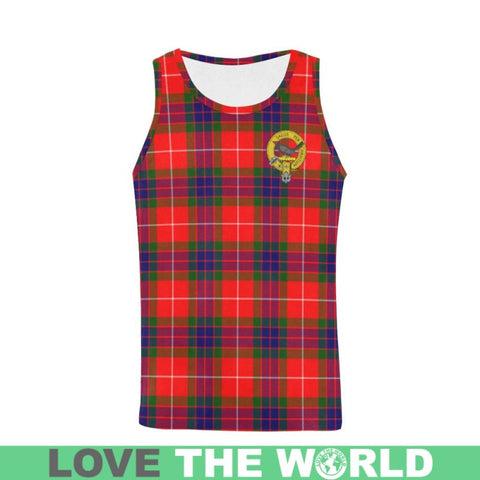 Abernethy Tartan Clan Badge All Over Print Tank Top Nl25 S / Women Tops