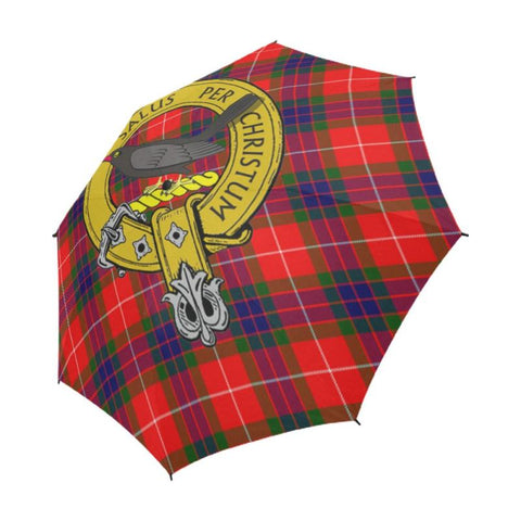 Abernethy Tartan Clan Badge Semi-Automatic Foldable Umbrella R1 Semi Umbrellas