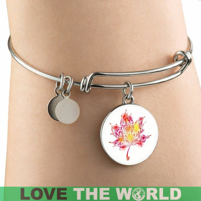 love girlfriend maple leaf jewelry, love canada