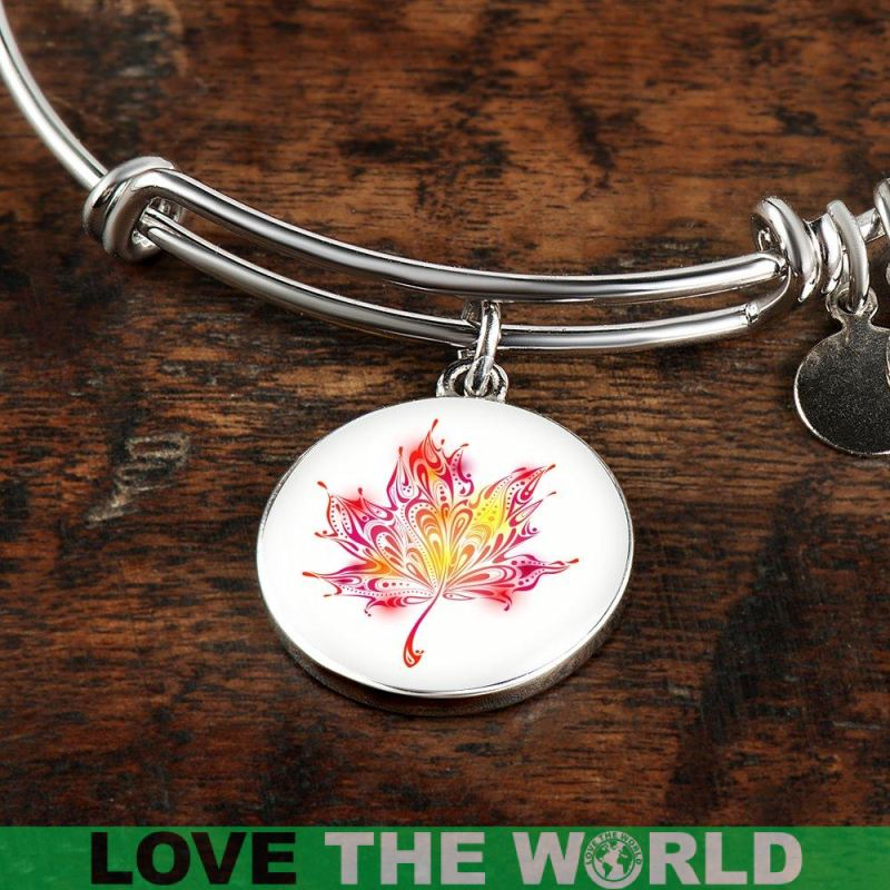 Abstract Maple Leaf Bangles Z1