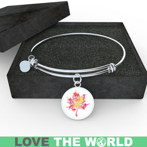 Image of Abstract Maple Leaf Bangles Z1