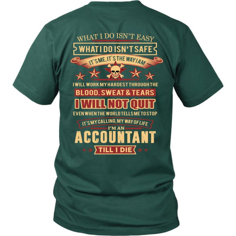 Image of Accountant A9 T-Shirt District Unisex Shirt / Dark Green S T-Shirts