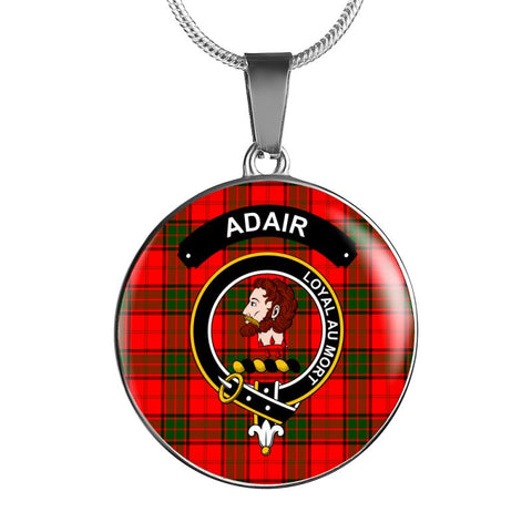 Adair Clan Tartan Silver ( Necklace And Bangle) F1 Jewelries