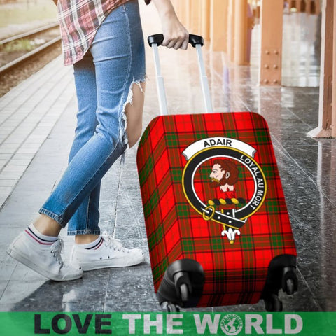 Adair Plaid Luggage Cover