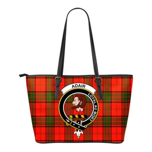 Adair Tartan Clan Badge Small Leather Tote Bag C20 Totes