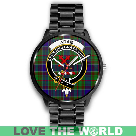 Adam Clan Badge Tartan Leather/steel Watch P1 Mens 40Mm / Brown Leather-Steel Watches