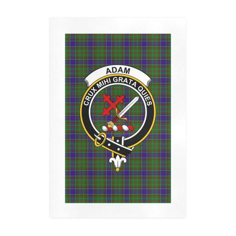 Adam Clan Tartan Art Print F1 One Size / 19í_í‡X28í_í‡ Prints