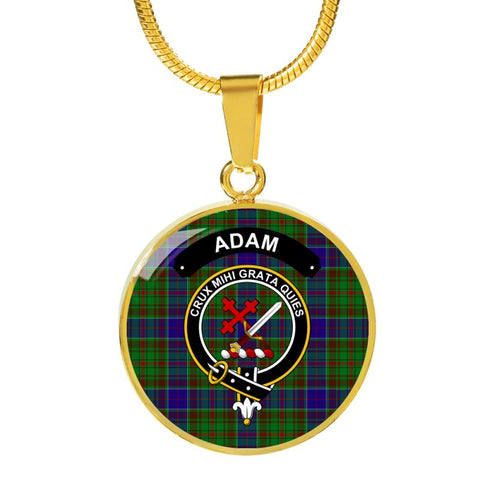 Adam Clan Tartan Golden Necklace And Bangle A9 Luxury Necklace (Gold) Jewelries