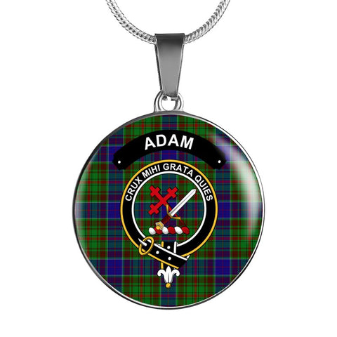 Adam Clan Tartan Silver ( Necklace And Bangle) F1 Luxury Necklace W/ Adjustable Snake-Chain