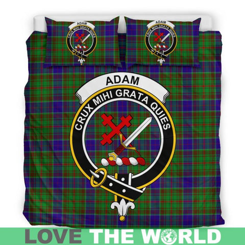 Image of Adam Tartan Clan Badge Bedding Set Th1 Bedding Set - Black Black / Queen/full Sets