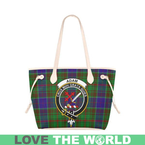 Adam Tartan Handbag - Tartan Clan Badge Large Leather Tote Bag Nn5