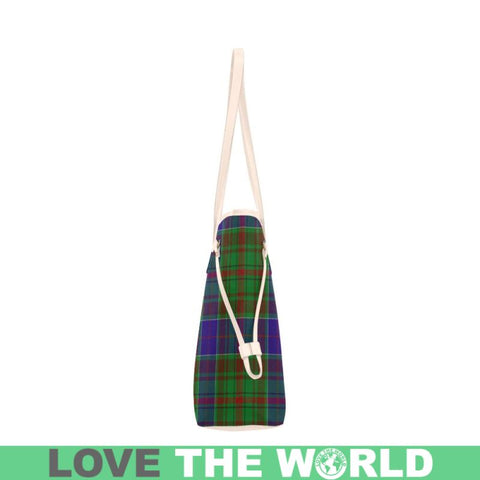 Adam Tartan Clan Badge Clover Canvas Tote Bag C33 Bags
