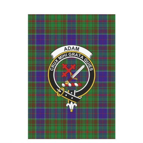 Adam Tartan Flag Clan Badge K7