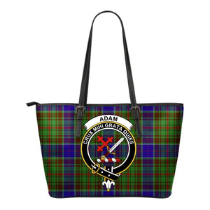 Adam Tartan Clan Badge Small Leather Tote Bag C20 Totes