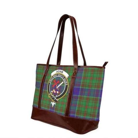 Adam Tartan Clan Badge Tote Handbag Hj4 Handbags