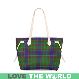 Adam Tartan Handbag - Tartan Clover Canvas Tote Bag NN5