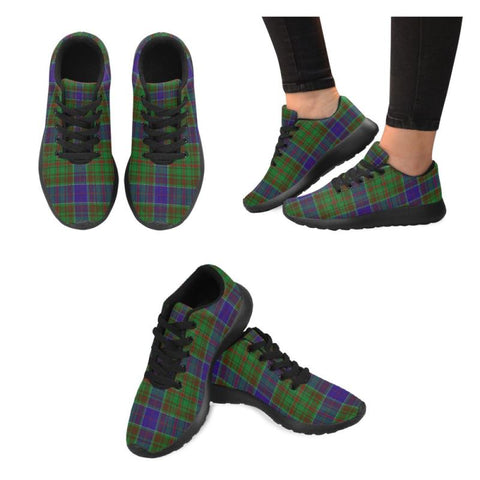 Image of Adam Tartan Running Shoes Hj4 Us6 / Adam Black Womens Running Shoes (Model 020)