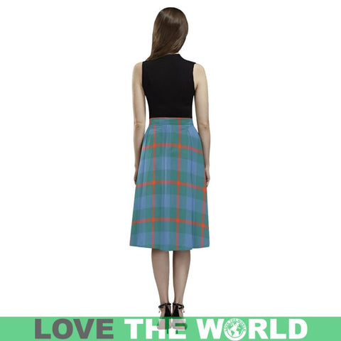 Image of Agnew Ancient Tartan Aoede Crepe Skirt S12 Skirts