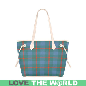 Agnew Ancient Tartan Handbag - Tartan Clover Canvas Tote Bag NN5