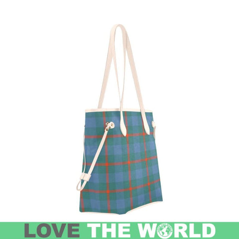 Agnew Ancient Tartan Clover Canvas Tote Bag S1 Bags