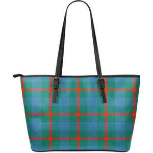 Agnew Ancient Tartan Large Leather Tote Bag Nl25 Totes