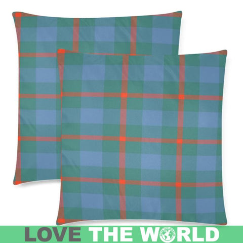 Agnew Ancient Tartan Pillow Case Hj4 One Size / Agnew Ancient Custom Zippered Pillow Case 18X18(Twin