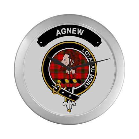 Agnew Clan Tartan Wall Clock  - Love The World