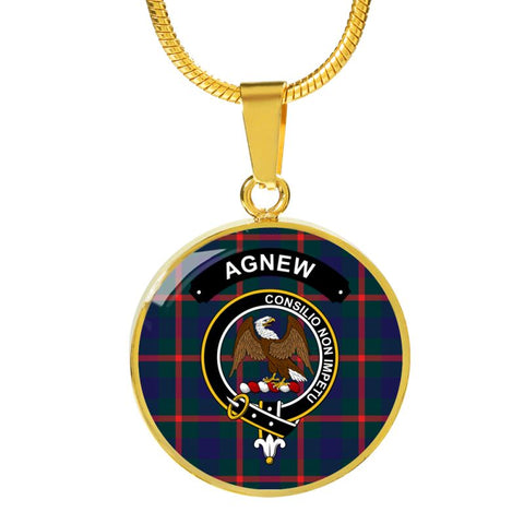 Agnew Clan Tartan Golden Necklace And Bangle A9 Luxury Necklace (Gold) Jewelries
