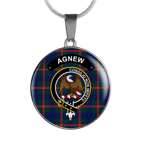 Agnew Clan Tartan Silver ( Necklace And Bangle) F1 Jewelries