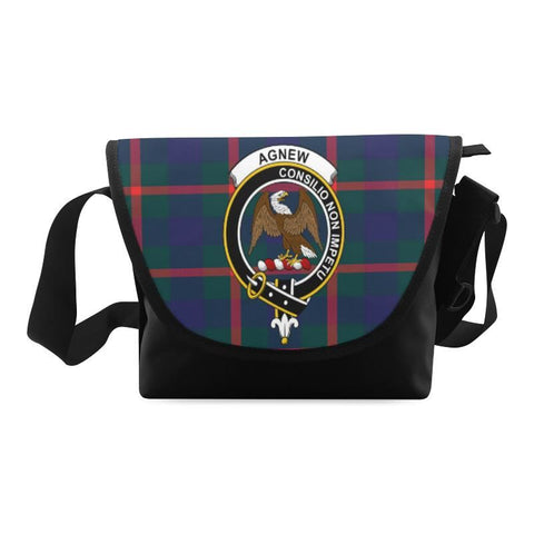 Image of AGNEW MODERN TARTAN CLAN BADGE CROSSBODY BAG NN5