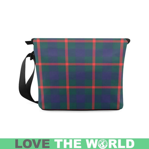 Image of Agnew Modern Tartan Clan Badge Crossbody Bag C20 Bags