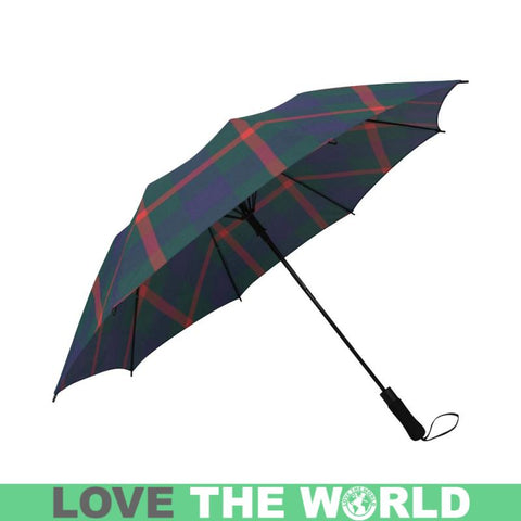 Agnew Modern Tartan Clan Badge Semi-Automatic Foldable Umbrella R1 Semi Umbrellas