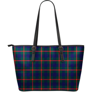 Agnew Modern Tartan Large Leather Tote Bag Nl25 Totes