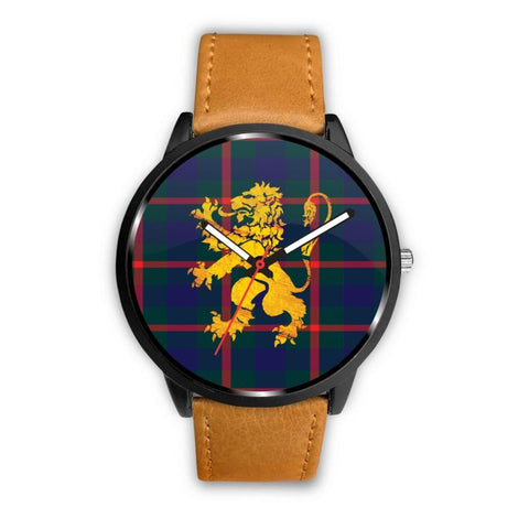 Agnew Modern Tartan Lion Leather/steel Watch P1 Mens 40Mm / Brown Leather-Steel Watches